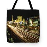 Night Exposure Of The Strip On Las Tote Bag