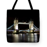 Night Image Of The River Thames And Tower Bridge Tote Bag