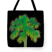 Night Of The Green Palm Tote Bag