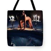 Night Pool Tote Bag