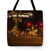 Night Scene At 6th And G Tote Bag