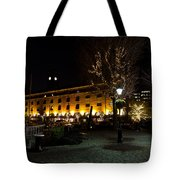 Night View Of St Katherines Dock London Tote Bag