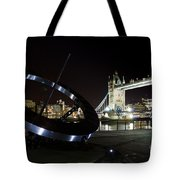 Night View Of The Thames Riverbank Tote Bag