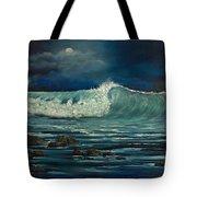 Night Wave Tote Bag