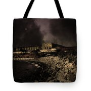 Nightfall Over Hard Time - San Quentin California State Prison - 5d18454 - Partial Sepia Tote Bag