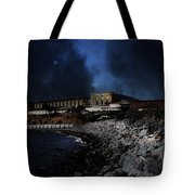 Nightfall Over Hard Time - San Quentin California State Prison - 5d18454 Tote Bag
