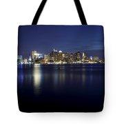 Nighttime Boston Skyline Tote Bag