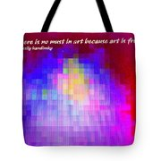No Must In Art Tote Bag
