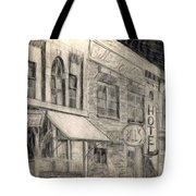 Noir Street Tote Bag