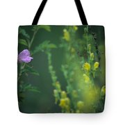 Nootka Rose And Yellow Toadflax Tote Bag