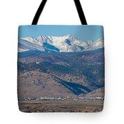North Boulder Colorado Front Range View Tote Bag