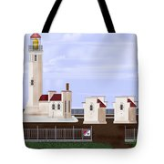 North Head Lighthouse Original Structures Tote Bag