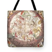 Northern Boreal Hemisphere From The Celestial Atlas Tote Bag by Pieter Schenk