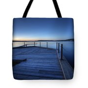 Northern Lake Evening Tote Bag
