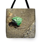Northern Leopard Frog At The Lake Tote Bag