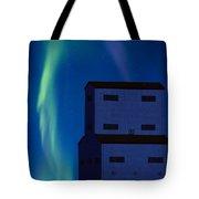 Northern Lights And Grain Elevator 2 Tote Bag