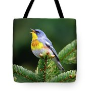 Northern Parula Parula Americana Male Tote Bag
