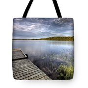 Northern Saskatchewan Lake Tote Bag