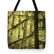 Northwest Mossy Tree Tote Bag