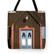 Norwegian Wooden Facade Tote Bag