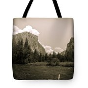 Nostalgic Yosemite Valley Tote Bag
