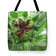 Not Quite A Sunflower Yet Tote Bag