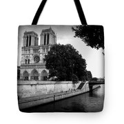 Notre Dame Along The Seine Tote Bag