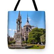Notre Dame Cathedral Backside Tote Bag