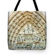 Notre Dame Cathedral Center Entry Tote Bag