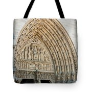 Notre Dame Cathedral Right Entry Door Tote Bag