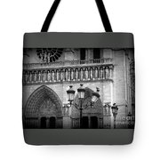 Notre Dame With Luminaires Tote Bag