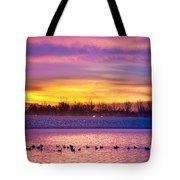 November Lagerman Reservoir Sunrise  Tote Bag by James BO  Insogna