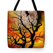 Nuclear Moonrise Tote Bag