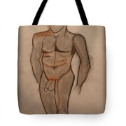 Nude Male Drawing Tote Bag