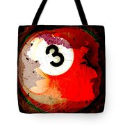 Number 3 Billiards Ball Tote Bag by David G Paul