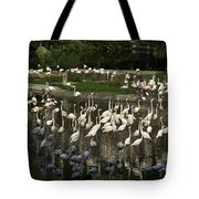 Number Of Flamingoes Inside The Jurong Bird Park In Singapore Tote Bag