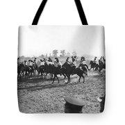 Ny Police Fencing On Horseback Tote Bag