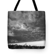 Ny Skyline Approaching Storm Tote Bag