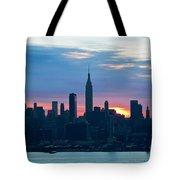 Ny Skyline Blue Dawn Tote Bag