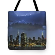 Nyc All Charged Up Tote Bag