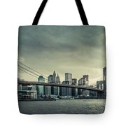 Nyc Skyline In The Sunset V2 Tote Bag