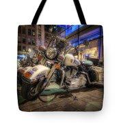 Nypd Bikes Tote Bag by Yhun Suarez