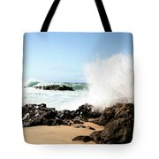 Oahu North Shore Breaker Tote Bag