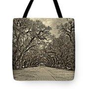 Oak Alley 3 Antique Sepia Tote Bag