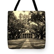 Oak Alley In Black And White Tote Bag