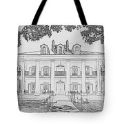 Oak Alley Sketch Tote Bag