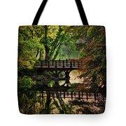 Oak Bridge In Fall Tote Bag