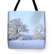 Oak In Snow Tote Bag