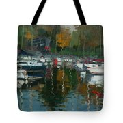 Oakville Harbour On Tote Bag