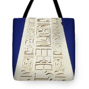 Obelisk Of Tuthmosis IIi And Blue Sky Tote Bag